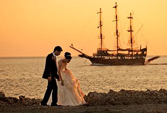 Romanttinen risteily Välimerellä tai Karibialla