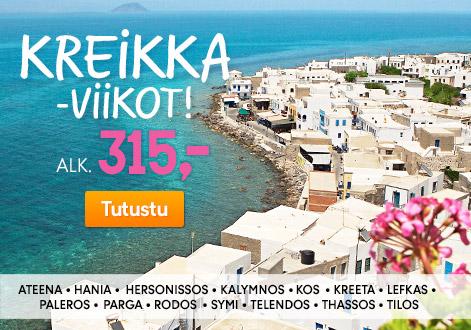 Kreikka-viikot – lomia joka makuun