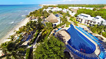 Lapsiystävällinen hotelli Sandos Caracol Eco Resort.