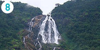 Dudhsagarin vesiputous – Goa, Intia