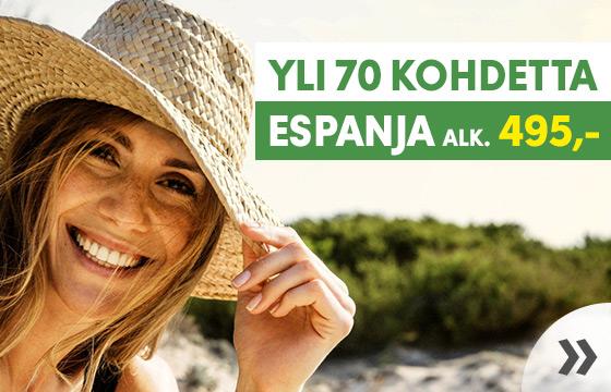 Espanja - Yli 70 kohdetta