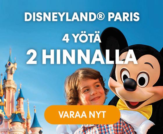 Disneyland Paris 4 yötä kahden hinnalla