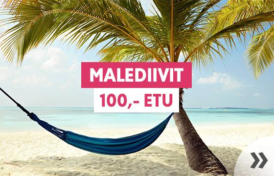 Talvilöyty: Malediivit -100,-